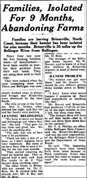 BRINERVILLEThe Sydney Morning Herald Saturday 24 March 1951, page 1